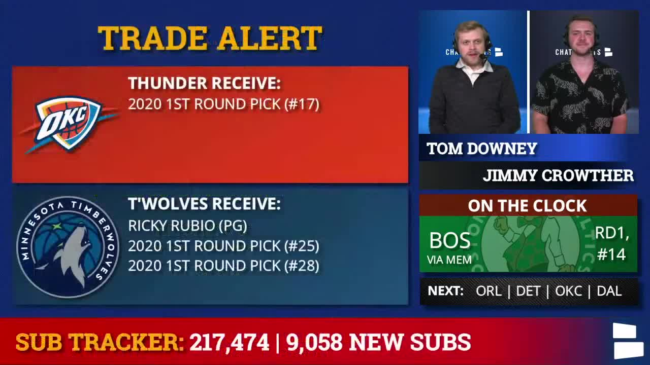 2020 NBA Draft Screenshot Trade Graphic