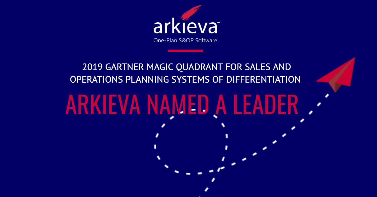 Arkieva Named a Leader in Gartner Supply Chain Magic Quadrant 2019