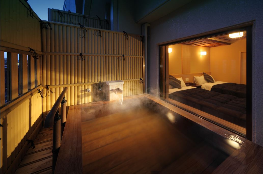 Asaya Hotel Guest Room with Outdoor Bath