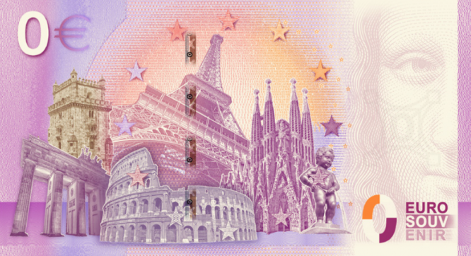 Back side of the '0 Euro banknote'