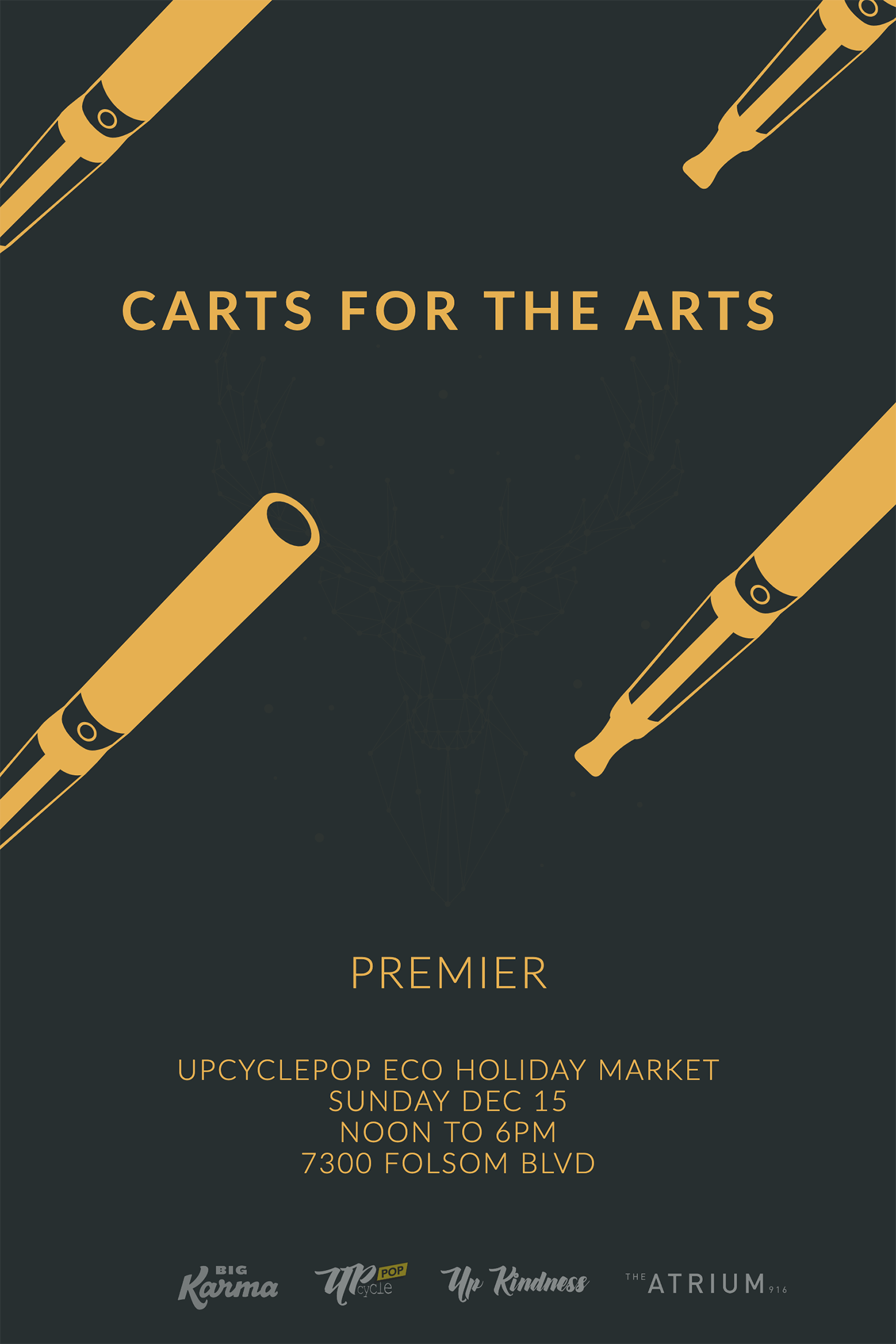 Carts for the arts premier - The Atrium & Upcyclep