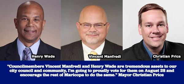 Councilmember Henry Wade Councilmember Vincent Manfredi Mayor Christian Price
