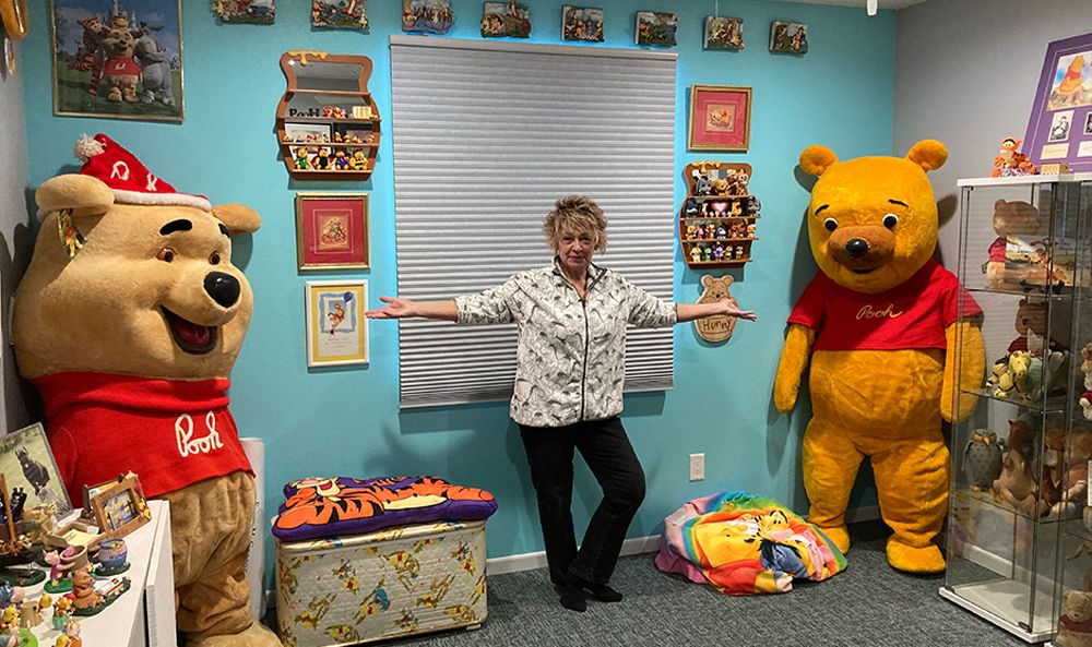 Deb Hoffmann with item 20,000 in her collection