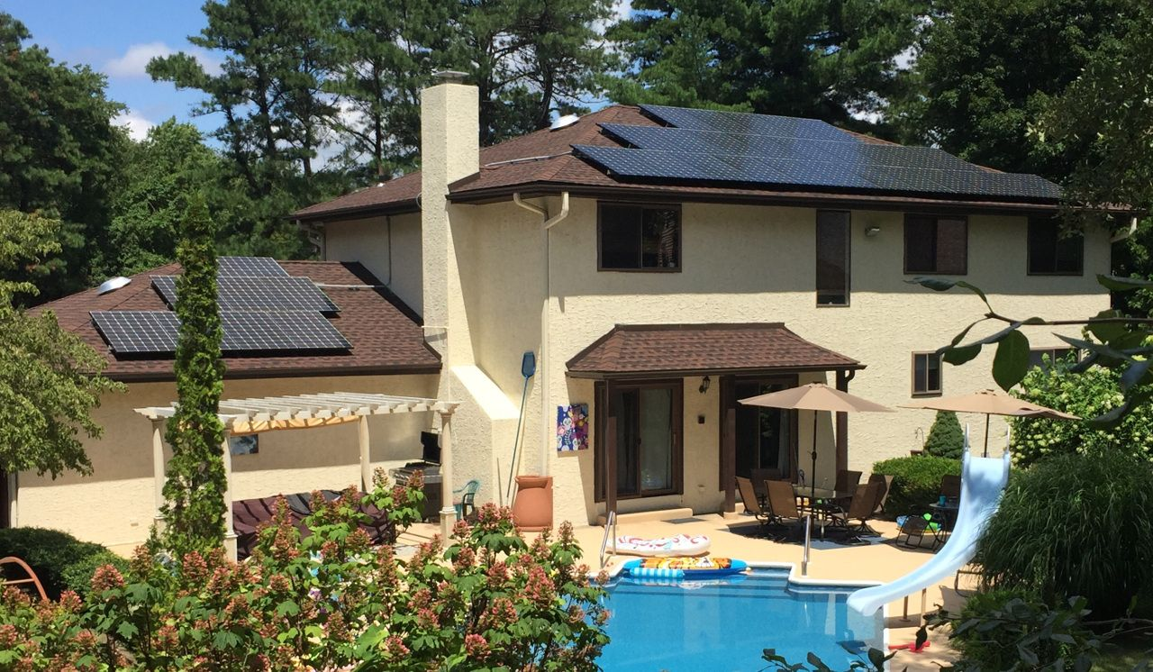 Exact Solar residential rooftop in New Jersey