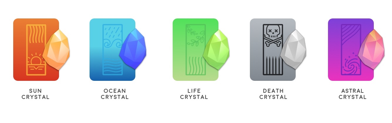 Five types of ERC-20 crystal.