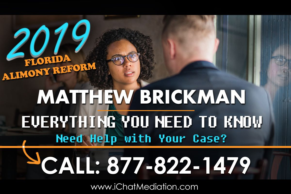 Florida Alimony Reform Bill - Matthew Brickman
