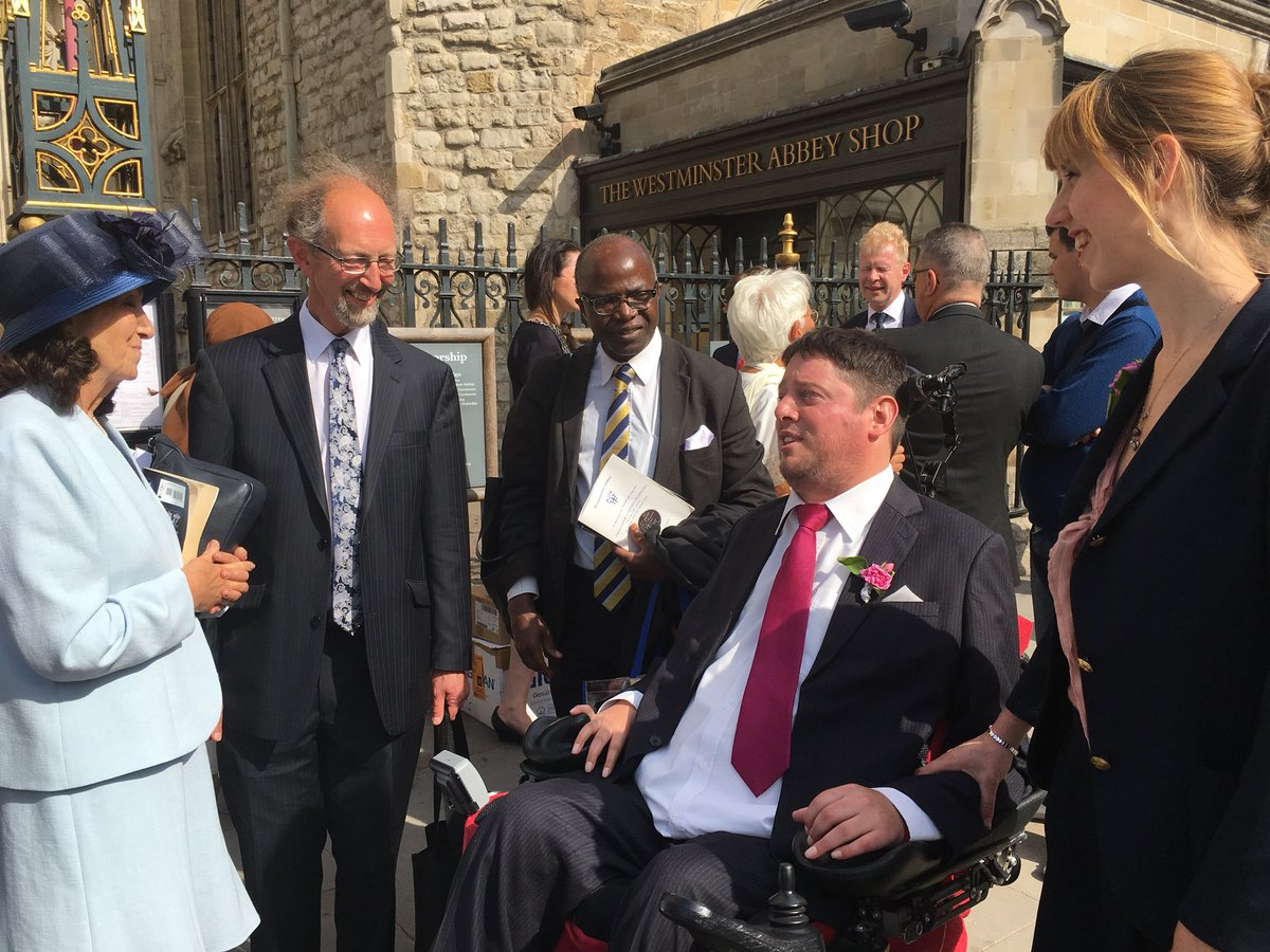 Jane Hawking with Professor Chris Imafidon after service at Westminster Abbey