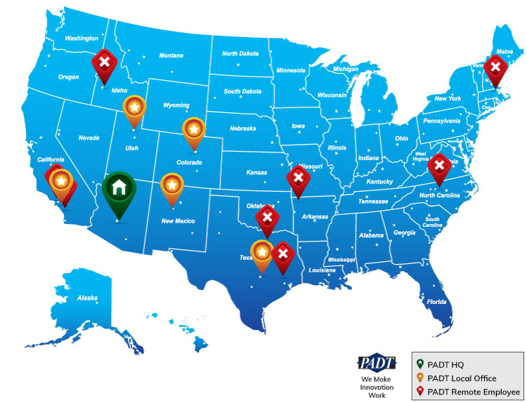 PADT has offices and employees across the US