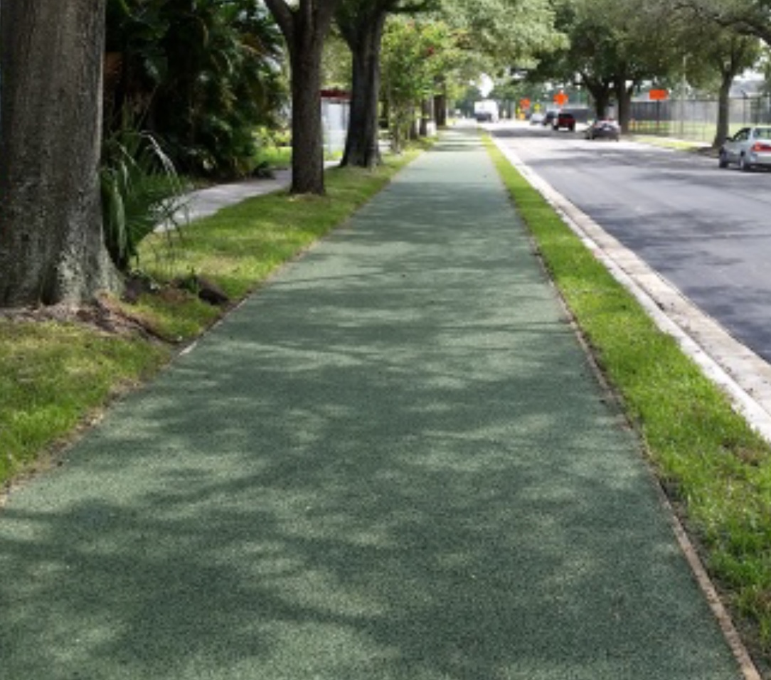 Paved with Porous Pave XL, the Westmoreland Shared Use Path is two miles long