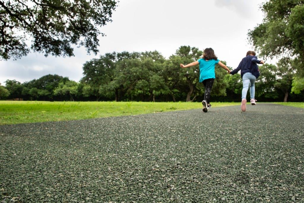 Porous Pave walking tracks: recreational resource for schools and neighborhoods