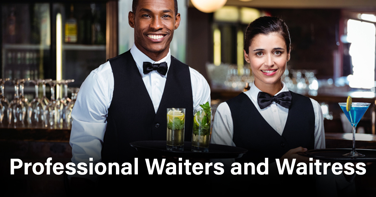Professional waiters and waitresses