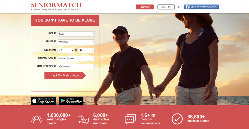 SeniorMatch Homepage