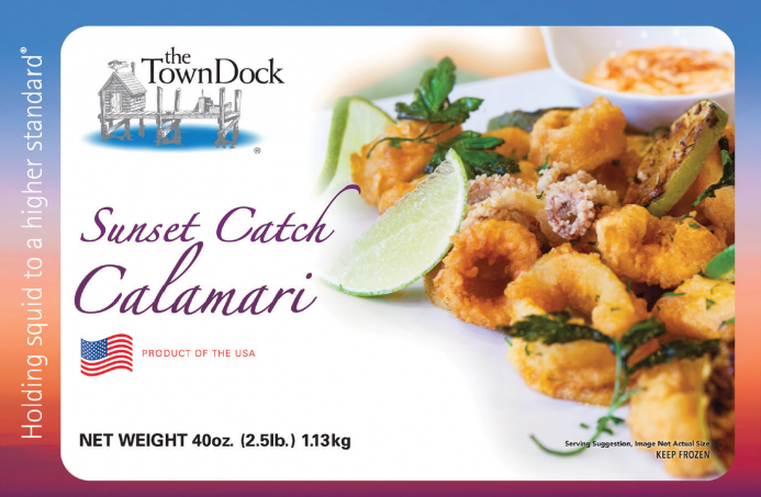 Sunset Catch Calamari - NEW from The Town Dock
