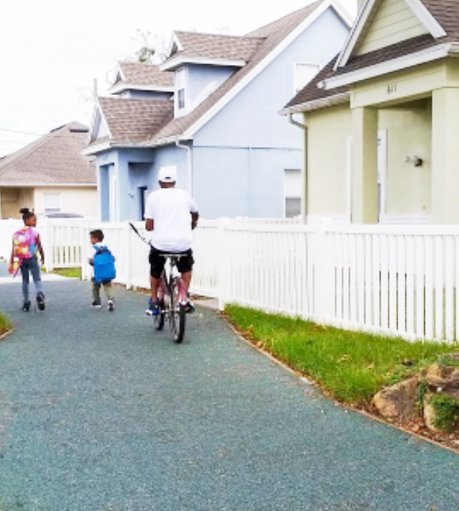 The Shared Use Path makes walking and biking safe in the Parramore neighborhood