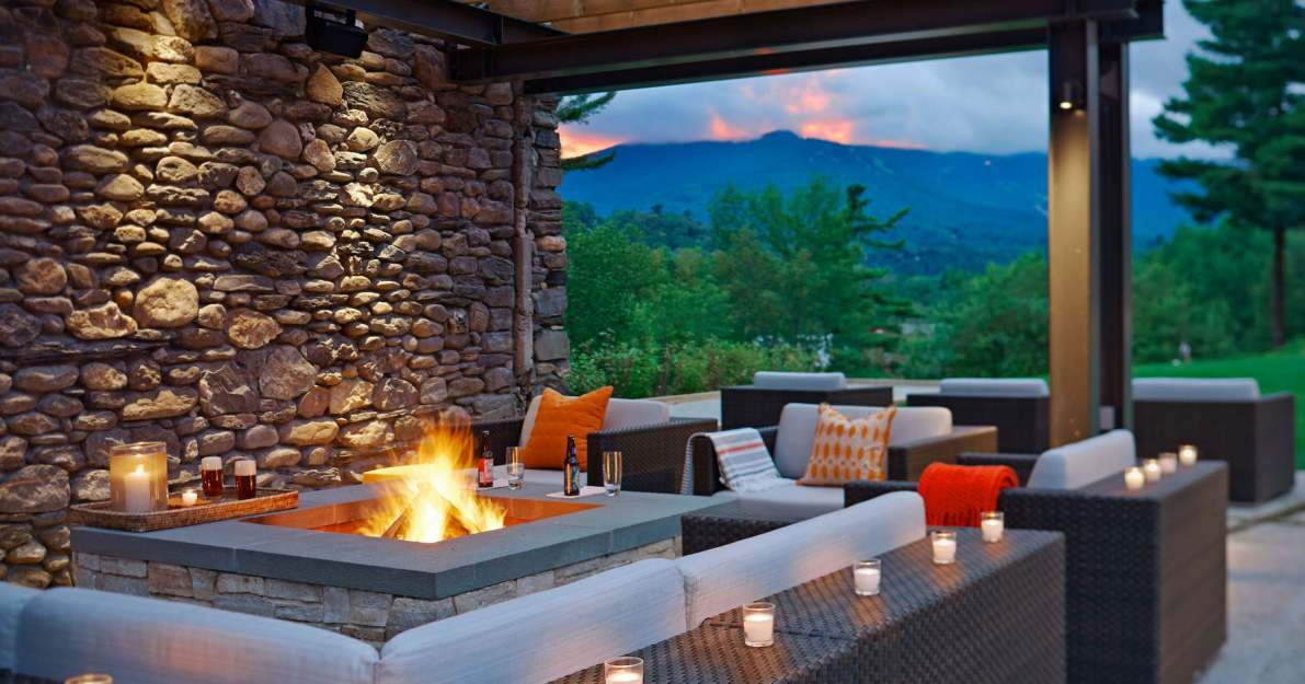 Topnotch Resort offers fire pits outside both restaurants.