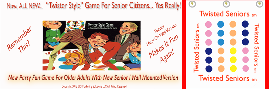 Website Banner For Twisted Seniors tm Game