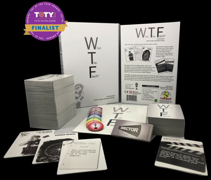 What The Film?! game contents. A Toy of the Year 2019 Finalist