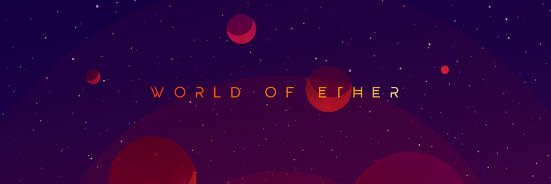 World of Ether over planets in the mysterious univ